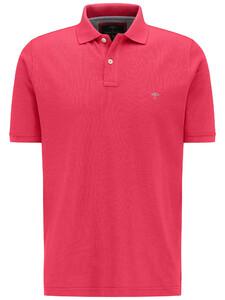 Fynch-Hatton Poloshirt Cotton Uni Poloshirt Flamingo