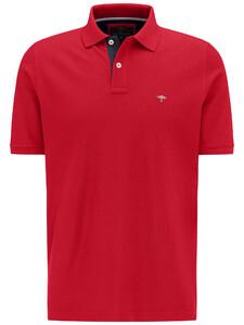 Fynch-Hatton Poloshirt Uni Modern Fit Poloshirt Sangria