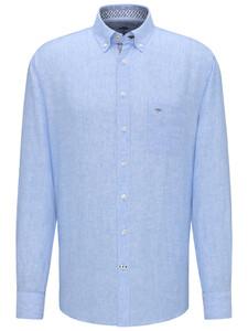 Fynch-Hatton Premium Linen Button Down Shirt Blue