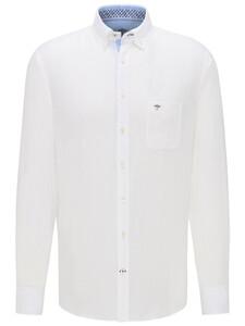Fynch-Hatton Premium Linnen Button Down Overhemd Wit