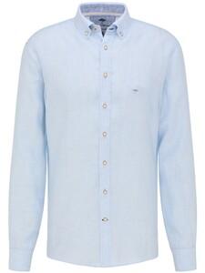 Fynch-Hatton Premium Modern Soft Linnen Overhemd Licht Blauw