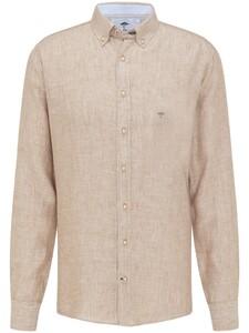 Fynch-Hatton Premium Modern Soft Linnen Overhemd Nature
