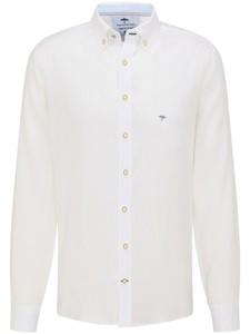 Fynch-Hatton Premium Modern Soft Linnen Overhemd Wit