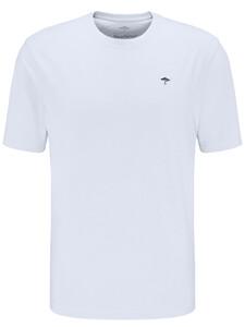 Fynch-Hatton Ronde Hals T-Shirt T-Shirt Wit