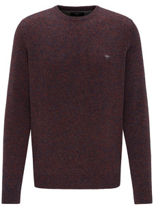Fynch-Hatton Round Neck Lambswool Polyamide Trui Electric