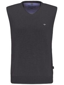 Fynch-Hatton Slipover Uni V-Neck Slip-Over Charcoal