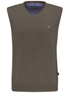 Fynch-Hatton Slipover Uni V-Neck Slip-Over Earth