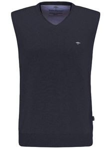 Fynch-Hatton Slipover Uni V-Neck Slip-Over Navy