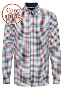 Fynch-Hatton Soft Combi Check Overhemd Multicolor