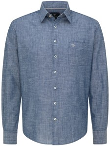 Fynch-Hatton Soft Denim Kent Overhemd Licht Blauw