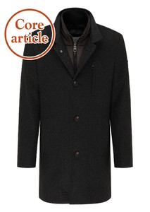 Fynch-Hatton Sportive Wool Touch Coat Jas Charcoal