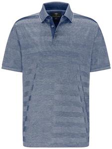 Fynch-Hatton Stripe Mercerized Cotton Polo Midnight