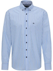 Fynch-Hatton Summer Stripes Overhemd Blauw