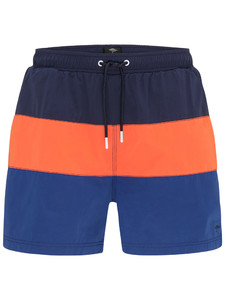 Fynch-Hatton Swim Shorts Block Stripe Swim Short Navy-Mandarin-Royal