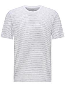 Fynch-Hatton T-Shirt Fine Stripe T-Shirt Wit-Navy