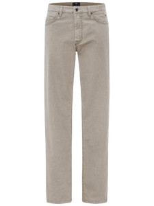 Fynch-Hatton Tanzania 5-Pocket Minimal Print Broek Beige