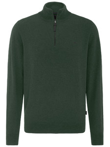 Fynch-Hatton Troyer Zip Elbow Patches Trui Basil