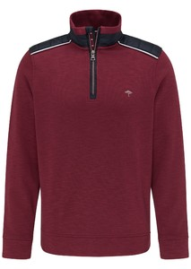 Fynch-Hatton Troyer Zip Hybrid Trui Merlot