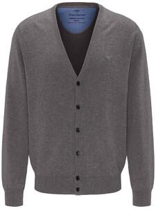 Fynch-Hatton Uni Cardigan Button Vest Steel