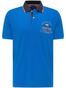 Fynch-Hatton Uni Chest Logo Contrast Maritime Polo Royal