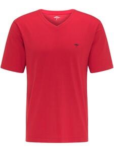 Fynch-Hatton V-Hals T-Shirt T-Shirt Sangria