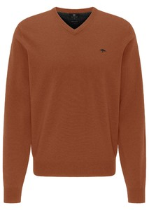 Fynch-Hatton V-Neck Elbow Patches Lambswool Trui Toscana
