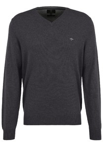 Fynch-Hatton V-Neck Merino Cashmere Pullover Anthra