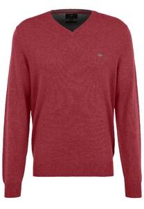 Fynch-Hatton V-Neck Merino Cashmere Pullover Bloom
