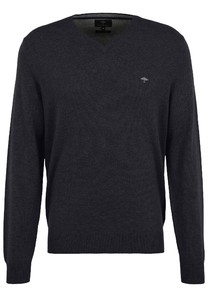 Fynch-Hatton V-Neck Merino Cashmere Pullover Navy