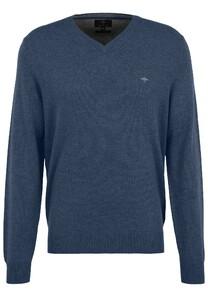 Fynch-Hatton V-Neck Merino Cashmere Pullover Night
