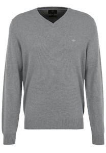 Fynch-Hatton V-Neck Merino Cashmere Pullover Silver