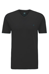 Fynch-Hatton V-Neck T-Shirt T-Shirt Black