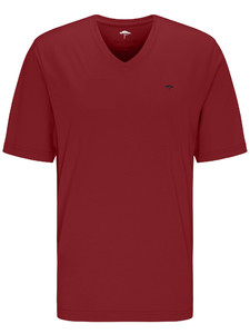 Fynch-Hatton V-Neck T-Shirt T-Shirt Cherry