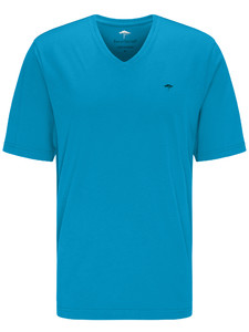 Fynch-Hatton V-Neck T-Shirt T-Shirt Crystalblue