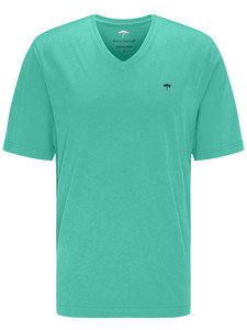 Fynch-Hatton V-Neck T-Shirt T-Shirt Fresh Mint