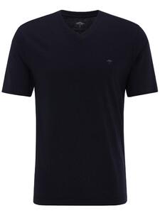 Fynch-Hatton V-Neck T-Shirt T-Shirt Navy