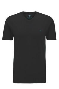 Fynch-Hatton V-Neck T-Shirt T-Shirt Zwart