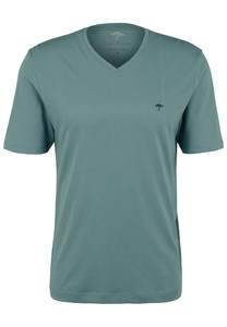 Fynch-Hatton V-Neck Uni Cotton T-Shirt Lindgreen