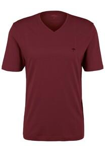 Fynch-Hatton V-Neck Uni Cotton T-Shirt Merlot
