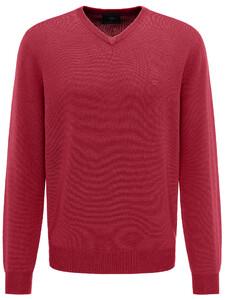 Fynch-Hatton V-Neck Wool Uni Pullover Scarlet