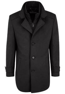 Fynch-Hatton Wool Coat Coat Navy