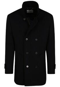 Fynch-Hatton Wool Coat Doublebrested Jas Navy