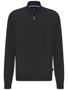 Fynch-Hatton Zip Cardigan High Collar Vest Zwart