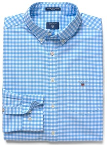 Gant The Oxford Gingham Capri Blue