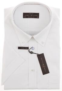 John Miller Fine Contrasted Dress Short Sleeve Wit