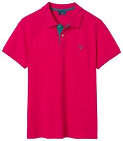 Gant Contrast Collar Pique Rose Red