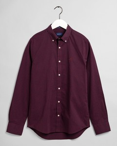 Gant 2 Color Gingham Shirt Port Red
