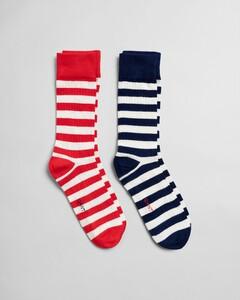Gant 2Pack Striped Socks Sokken Persian Blue