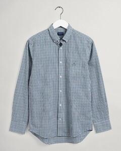 Gant 3 Color Gingham Check Overhemd Eden Green