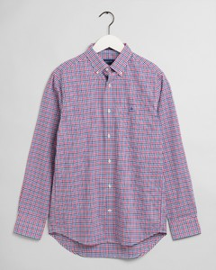 Gant 3 Color Gingham Check Overhemd Orchid Purple